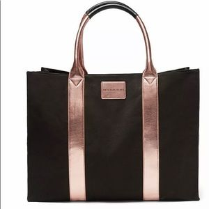 Victoria Secret oversized Rose gold black Tote